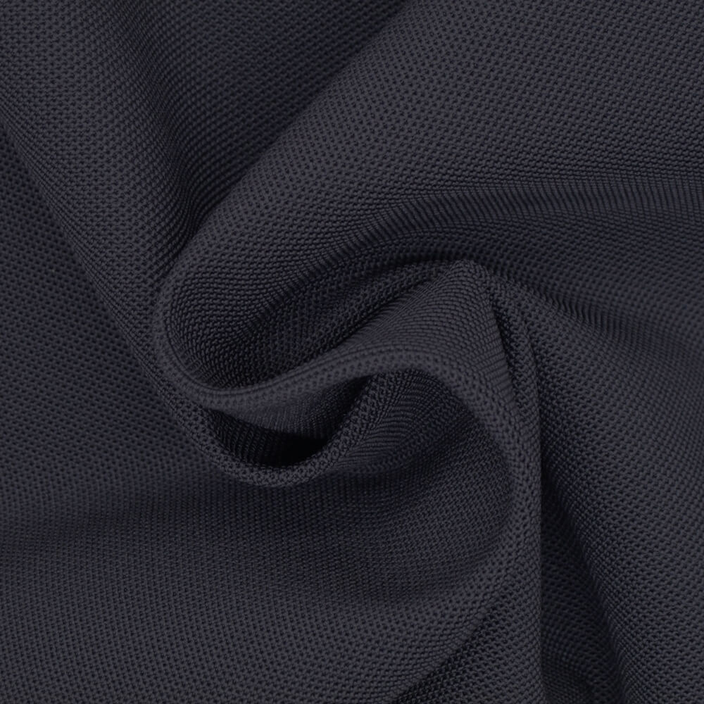 Eco-friendly Dope Dyed Polyester Pique Jersey Fabric