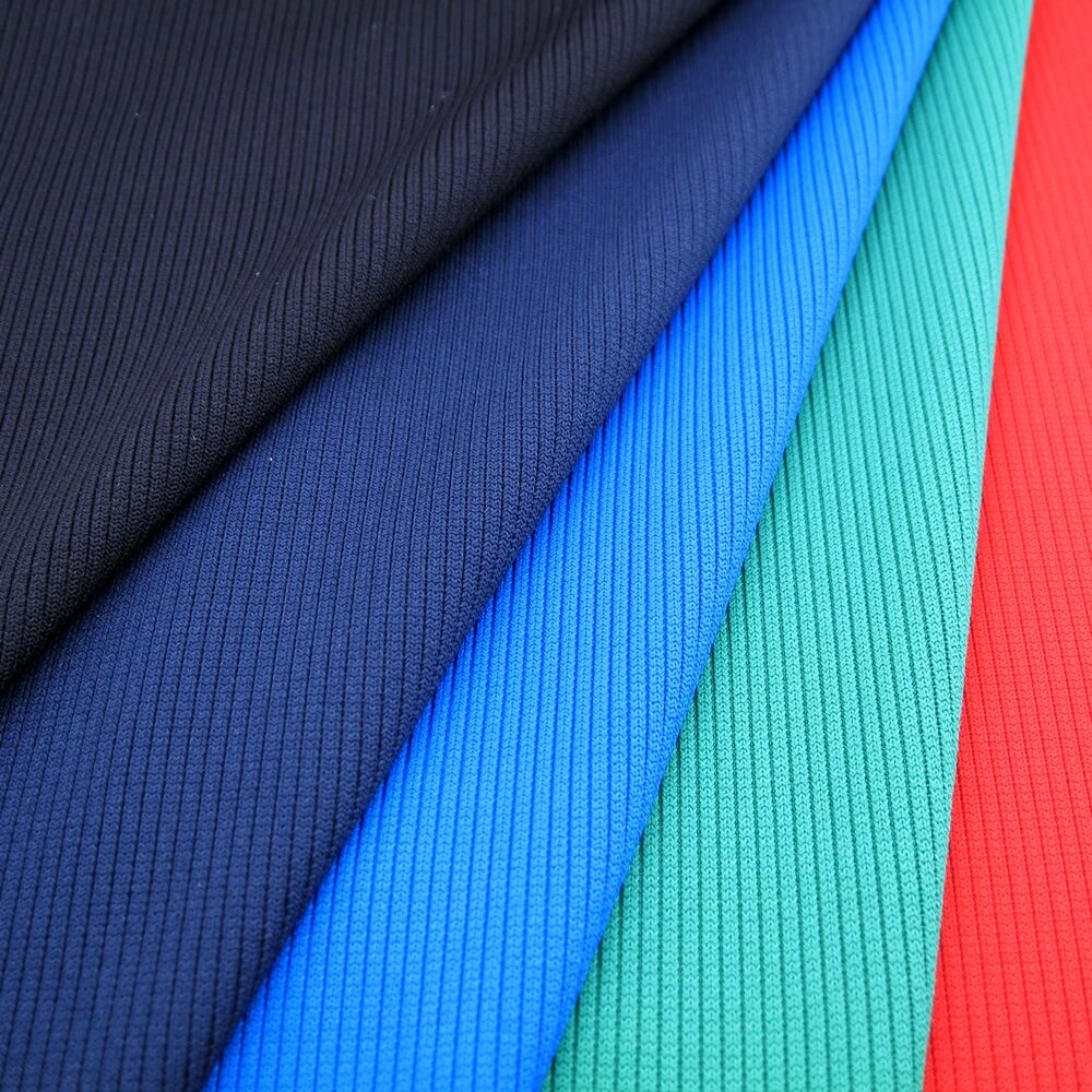 Heavy Weight Polyester Spandex 2x2 RIB Fabric