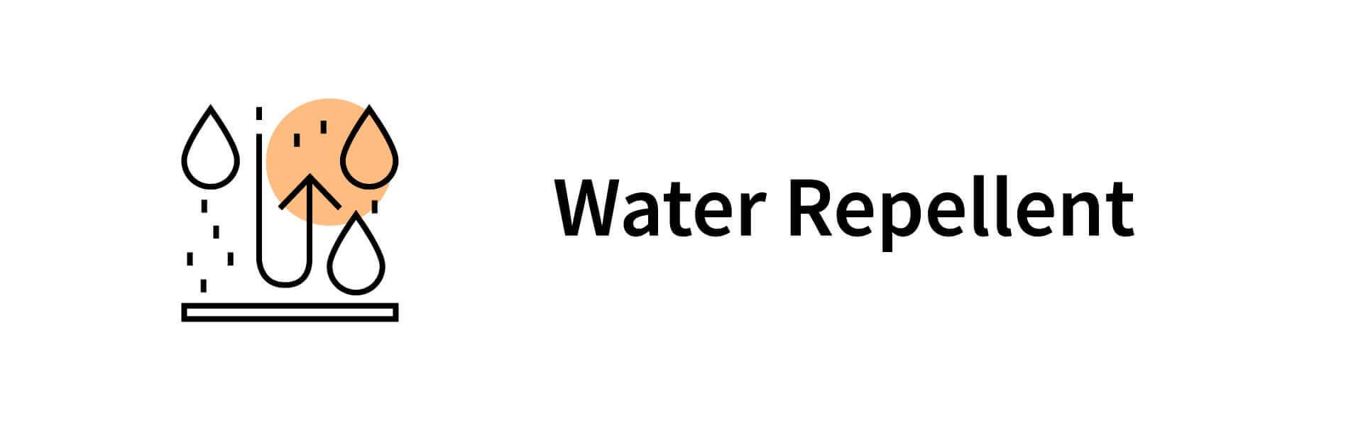 water-repellent