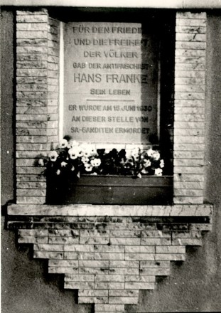 1984 Hans Franke Gedenktafel
