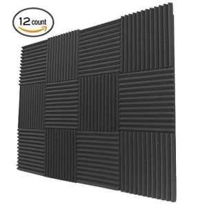 12 Pack- Acoustic Panels Studio Foam Wedges 1 X 12 X 12