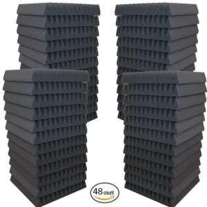48 Pack- Acoustic Panels Studio Soundproofing Foam Wedges 2 X 12 X 12