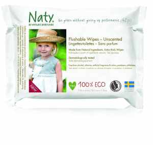 Nature Babycare Eco-Toddler Flushable Wipes, Fragrance-Free, 504 Count