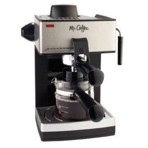 4-Cup Steam Espresso Machine in Black by Mr. Coffee