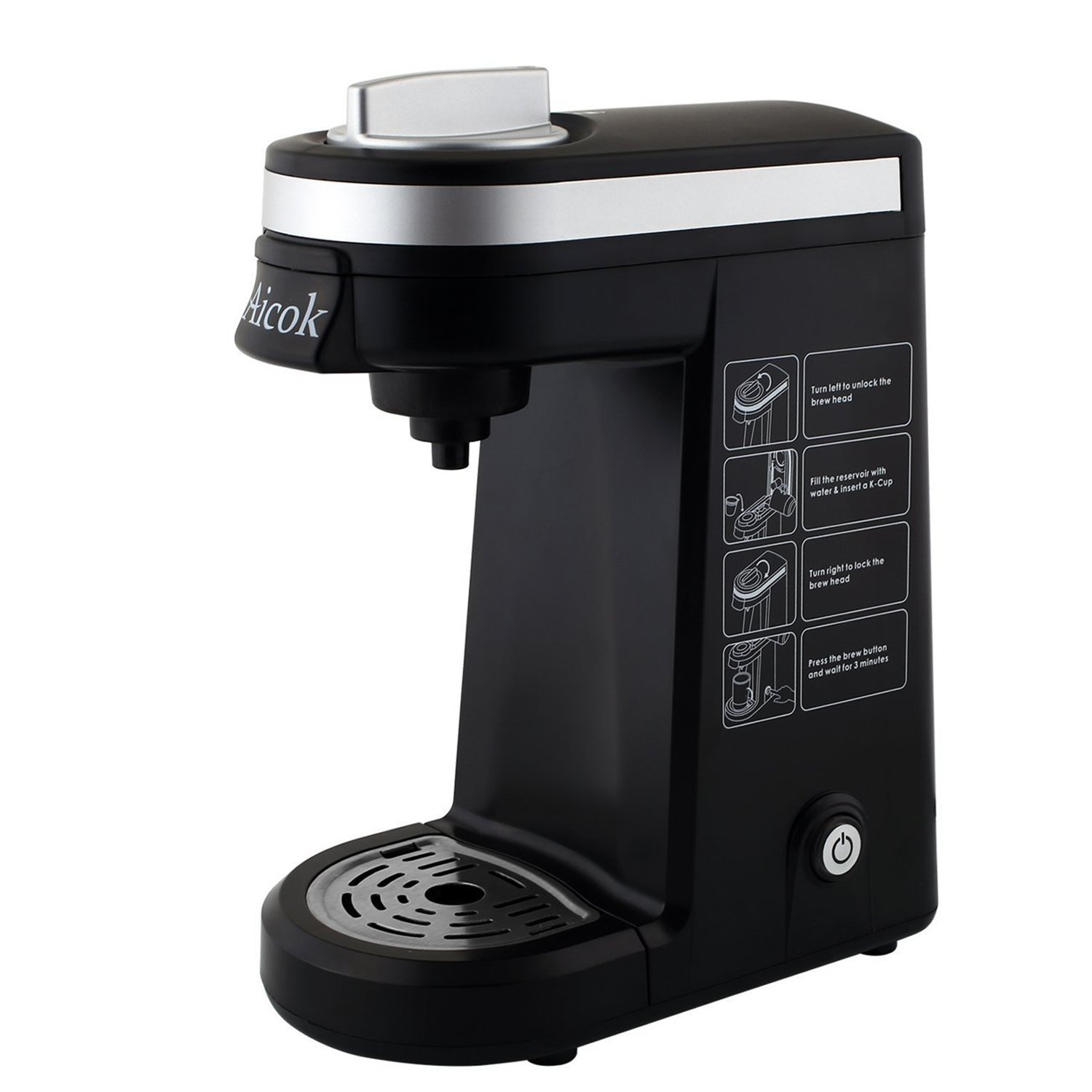 aicok kcup coffee maker single serve coffee brewer - K Cup Brewers