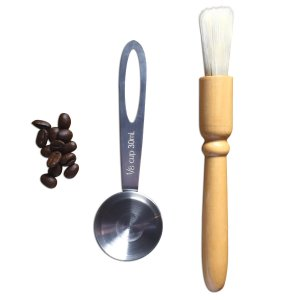 BEST Coffee Scoop and Grinder Brush by Coffee Gator. Premium Quality