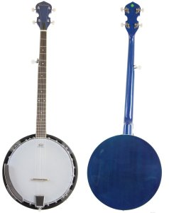 Blue Jameson 5 String Banjo with Closed Back and Geared 5th Tuner