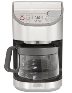 KRUPS KM611D Precision Programmable Coffee Maker with Aroma Selection and Stainless Steel Housing, 12-Cup, Silver