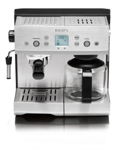 KRUPS XP2280 Espresso Machine and Coffee Maker Combination with KRUPS Precise Tamp Technology and Stainless Steel Housing, Silver