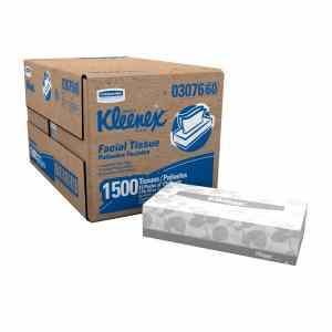 Kleenex Facial Tissue (03076), Flat Tissue Boxes, 12 Boxes Convenience Case, 125 Tissues Box
