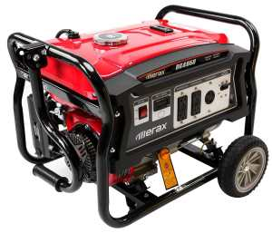 Merax Carb and EPA III certified 4650-Watt 7.0 HP OHV 4 Gallon Gas Powered Portable Generator with Wheel Kit and Handle