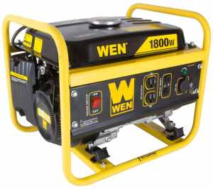 WEN 56180, 1500 Running Watts1800 Starting Watts, Gas Powered Portable Generator, CARB Compliant