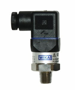 WIKA 50372483 General Purpose Pressure Transmitter, 4 - 20mA 2-Wire Signal Output, Stainless Steel 316L Wetted Parts, 0-5000 psi Range, +-0.5% Accuracy, 14 Male NPT Connection