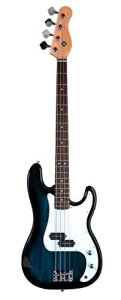Full Size 4 String BLUE Precision P Electric Bass Guitar with Gig Bag and Accessories