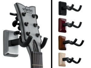 Gator Cases GFW-GTR-HNGRSCH Frameworks Wall Mounted Guitar Hanger with Satin Chrome Mounting Plate