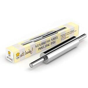 Sili Bake Stainless Steel Rolling Pin