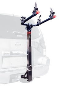 Allen Sports Deluxe 2-Bike Hitch Mount Rack with 1-2 Inch Receiver, SilverBlack