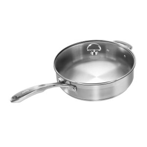 Chantal SLIN34-280 21-Steel Induction Saute Skillet with Glass Lid, 5-Quart