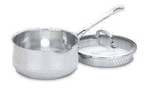 Cuisinart 419-18P Contour Stainless 2-Quart Pour Saucepan with Cover
