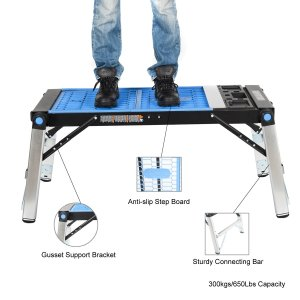 HICO 4-in-1 Multi-Function Folding Workbench for Scaffold Platform, Creeper Carrier, Hand truck