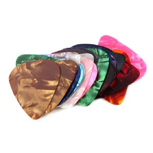 HIGHROCK 20 Pcs 0.46mm Stylish Colorful Celluloid Guitar Picks Plectrums for Guitar Bass