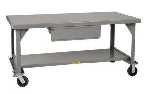 Little Giant WW-3060-HD-6PHFL Welded Steel Mobile Workbench with Casters