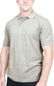 Men's Pique-Polo-Shirt, Cotton Blend, Solid, Short-Sleeve by Utopia Wear