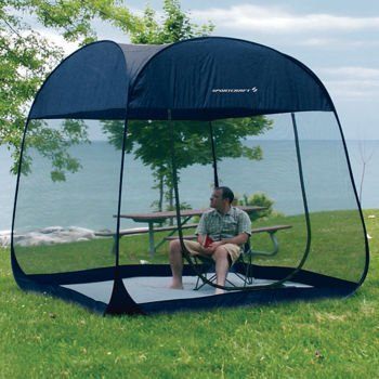 New SportCraft 8 ft Pop Up Screen Room With Floor Canopy Tent Shelter & Top 10 best camping screen houses u0026 rooms