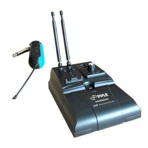 Pyle PDWMG46 Premier Series UHF Wireless GuitarInstrument Bug Transmitter Receiver System