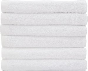 Restaurant-Kitchen-Hotel Bar Mop Cleaning Towels - 24 Pack, White Cotton, Professional Grade (16 x 19) by Utopia Kitchen