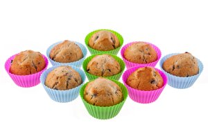 Silicone Baking Cups 12 Pack - Cupcake Liners - Lifetime Guarantee
