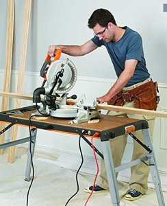 Universal Detachtable Woodworking Work Bench with Socket Scaffold 500 Pounds