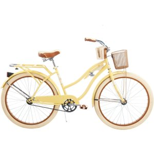 26 Huffy Nel Lusso Women's Cruiser Bike, Butter Yellow