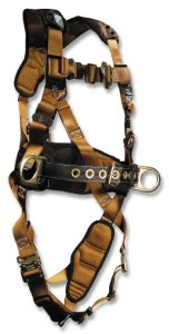 FallTech 7083LX ComforTech Full Body Harness with 3 D-Rings and Quick-Connect, LargeExtra Large