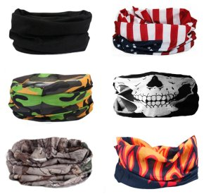 Kalily Oringinal 12-in-1 Sweatband Headband Bandana Protective Multi-use Seamless Breathable Neck and Head Tube Gaiter