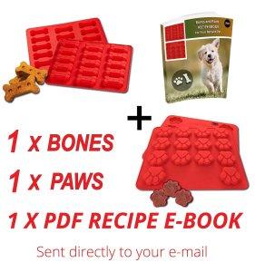 Laminas Dog Paws & Bones Silicone Baking Molds + RECIPE EBOOK,