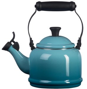 Le Creuset Enamel-on-Steel Demi 1-14-Quart Teakettle, Caribbean