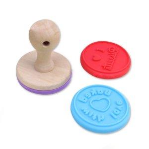MIREN Cookie Stamp Set with Wooden Handle ,