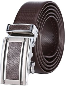 Marino Men's Ultra Soft Leather Ratchet Dress Belt with Automatic Buckle, Enclosed in an Elegant Gift Box
