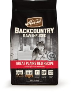Merrick Backcountry Great Plains Red Meat Recipe Raw-Infused Dry Dog Food