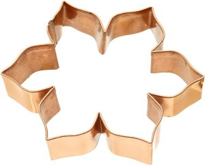 Old River Road Flower Shape Cookie Cutter, Copper