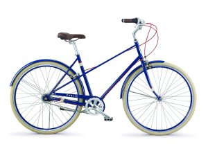 PUBLIC Bikes M7i Mixte Style Step-Over 7-Speed City Bike, 20.5Large, Royal Blue (2015 Model)