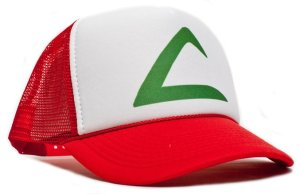 Pokemon Ash Ketchum Unisex-adult Trucker Hat -One-size Redlwhite