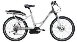 Polaris Electric Bikes Strive ST Electric 8-Speed Step-Thru Road Bicycle, WhiteMetallic Grey, 16.5-Inch