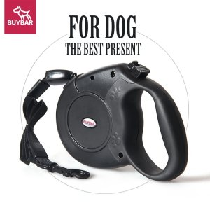 Retractable Dog Leash, BUYBAR Dog Leash up to 26ft with One Button Lock ONOFF Comfortable Ergonomic Hand Grip ECO-friendly Durable Nylon Great for Small,