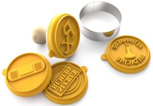Silicandy Cookie Stamp Molds - 46 Set - Great for Activities with Kids