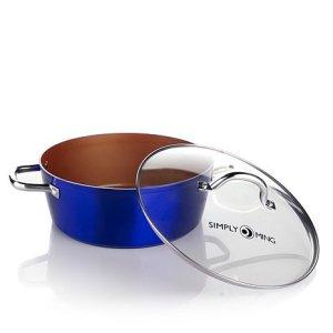 Simply Ming Technolon 6qt Casserole Pan in Vibrant Color - Imperial Blue