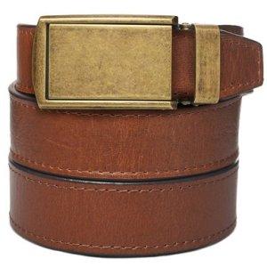 SlideBelts Men's Premium Top Grain Leather Ratchet Belt with Raw Buckle