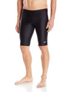 Speedo Men's PowerFLEX Eco Solid Jammer Swimsuit