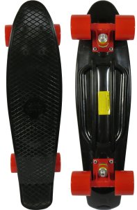 Sun Boards 22 Complete Skateboard Black Deck Colorful Wheels and Trucks